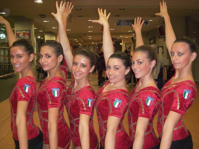 Le atlete della Ginnastica Villa Rosa agli Europei di Liberec (foto d'archivio)